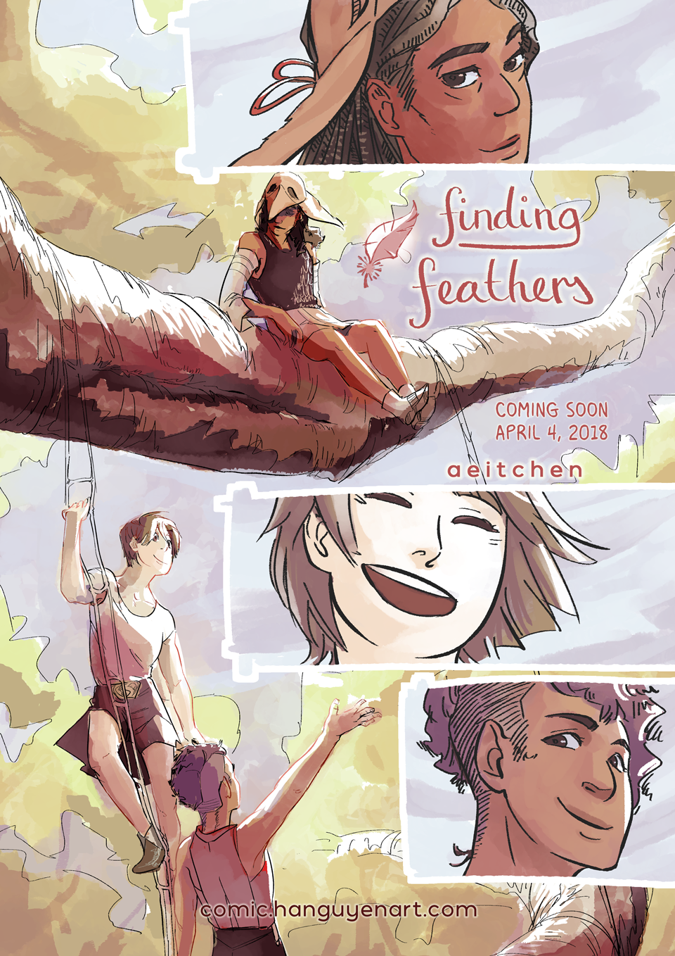 Finding Feathers webcomic will begin serialisation from April 4, 2018